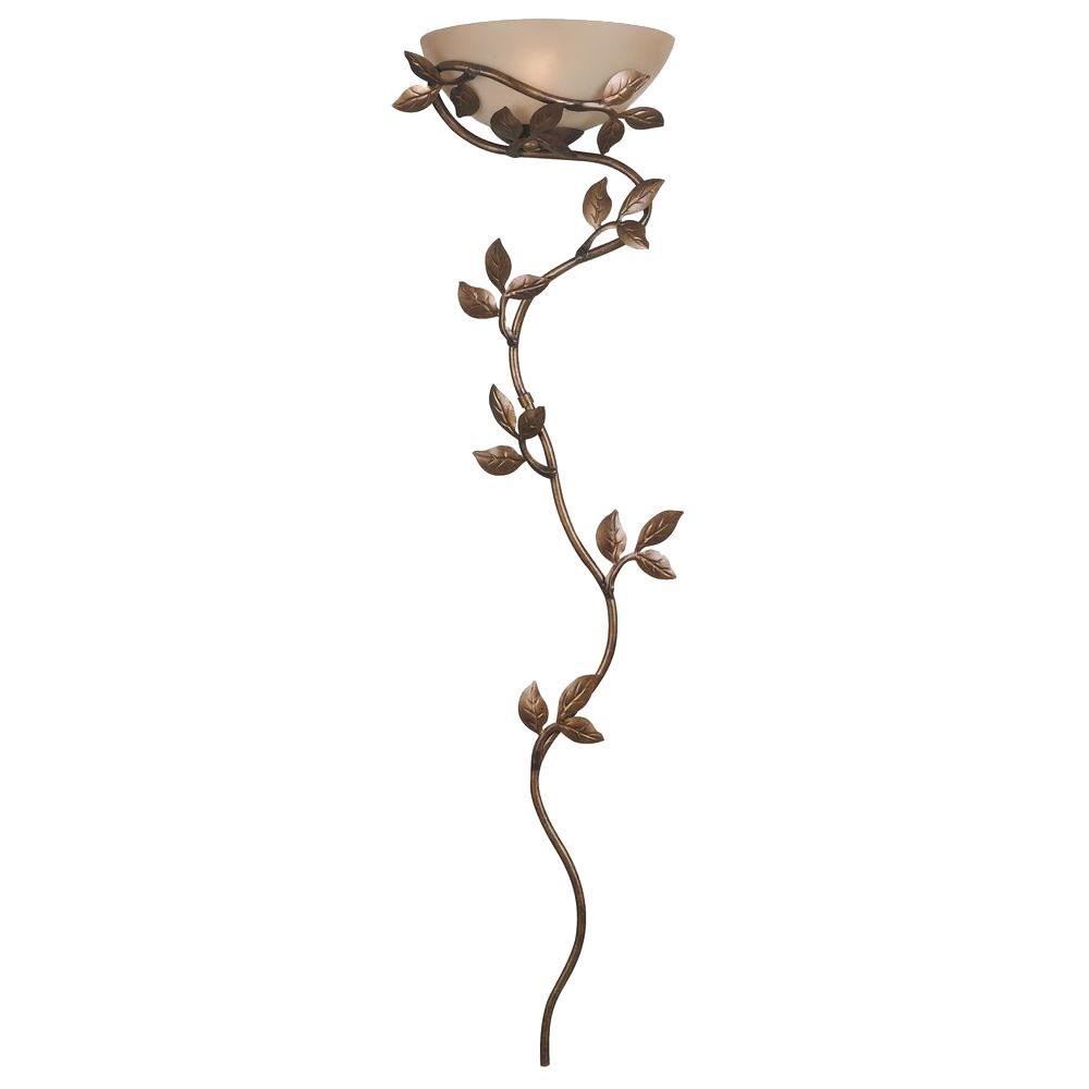 Fine Kenroy Home Flower Vine 1 Light Golden Bronze Wallchiere 20624Glbr Wiring Digital Resources Instshebarightsorg