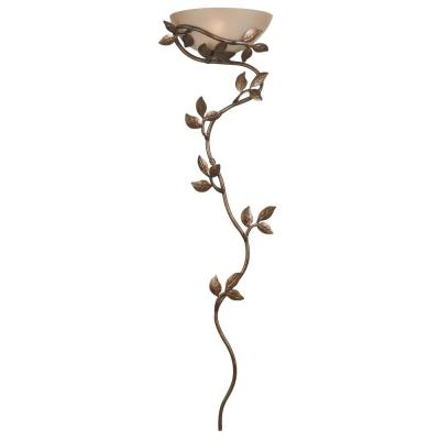 Flower Vine 1-Light Golden Bronze Wallchiere