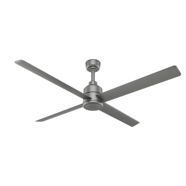 Trak 84 in. Indoor/Outdoor Matte Silver Commercial Ceiling Fan with Wall Control