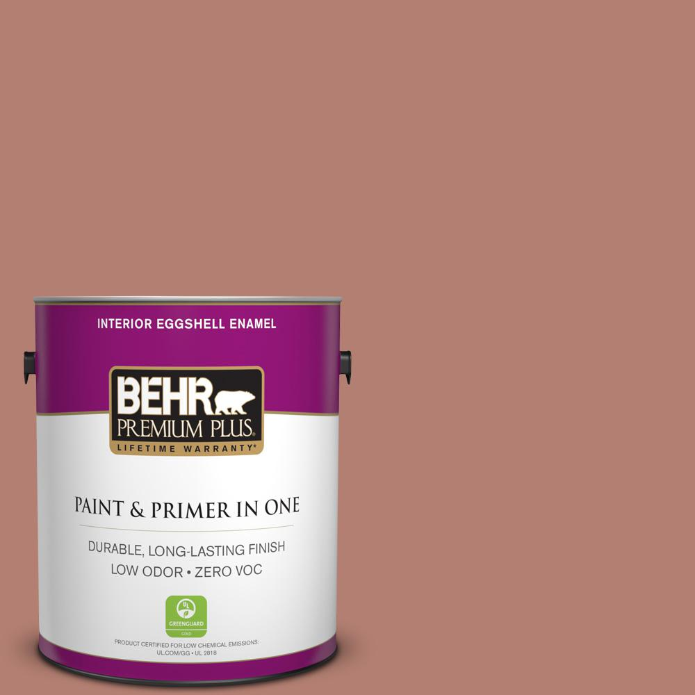 BEHR Premium Plus 1-gal. #ICC-102 Copper Pot Zero VOC Eggshell Enamel Interior Paint