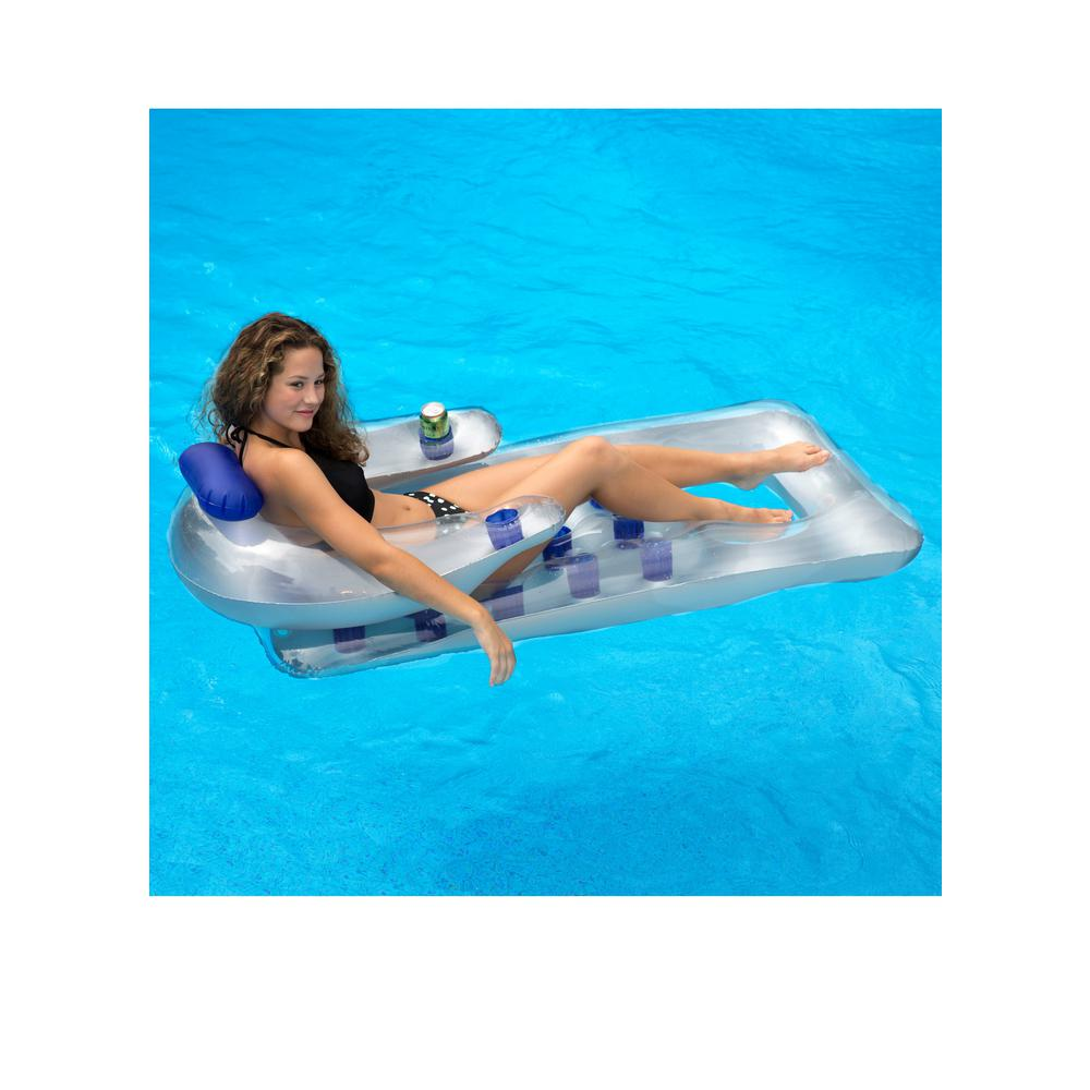 66 in. x 31 in. Dark Blue Chaise Lounger