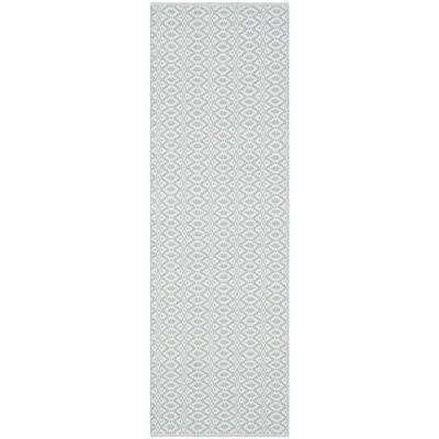 Montauk Ivory/Light Blue 2 ft. 3 in. x 5 ft. Runner Rug