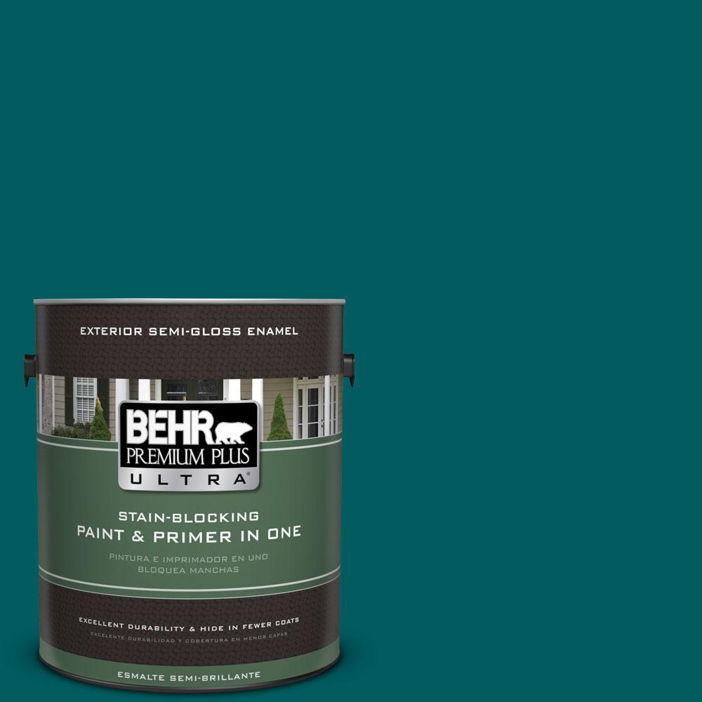 BEHR Premium Plus Ultra 1-gal. #S-H-500 Realm Semi-Gloss Enamel Exterior Paint