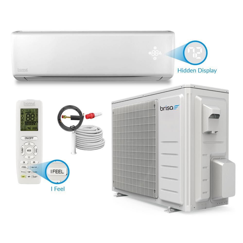 Brisa 12,000 BTU 1 Ton Wi-Fi Programmable Ductless Mini Split Air Conditioner with Inverter, Heat, Remote 208-230-Volt
