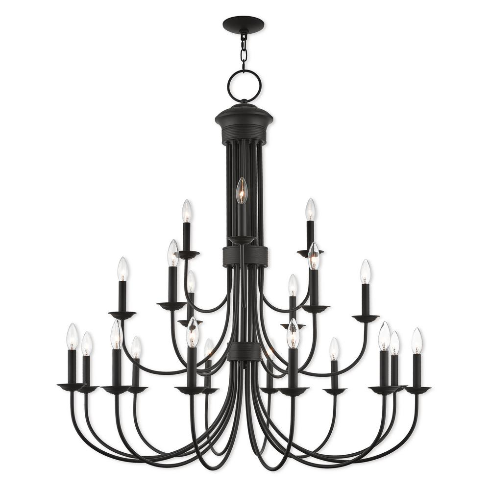 Livex Lighting Estate 21 Light Bronze Foyer Chandelier