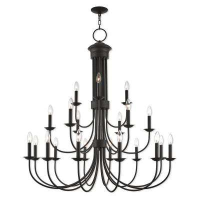 Estate 21-Light Bronze Foyer Chandelier