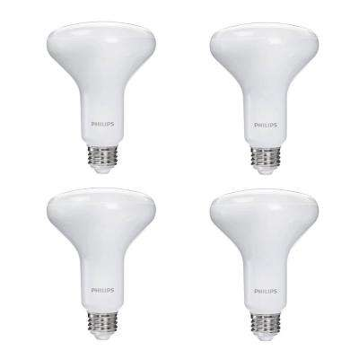 65-Watt Equivalent Soft White BR30 Dimmable LED Warm Glow Effect Light Bulb (4-Pack)