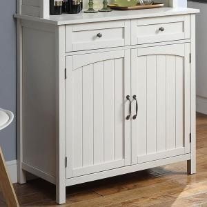 USL White Farmhouse Buffet with Hutch SK19295D1-PW - The ...