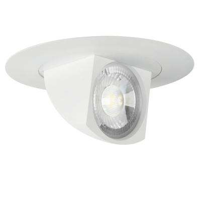 5 in. or 6 in. 75-Watt Bright White Title 24 White Integrated LED Recessed Retrofit Trim Directional Spot Light