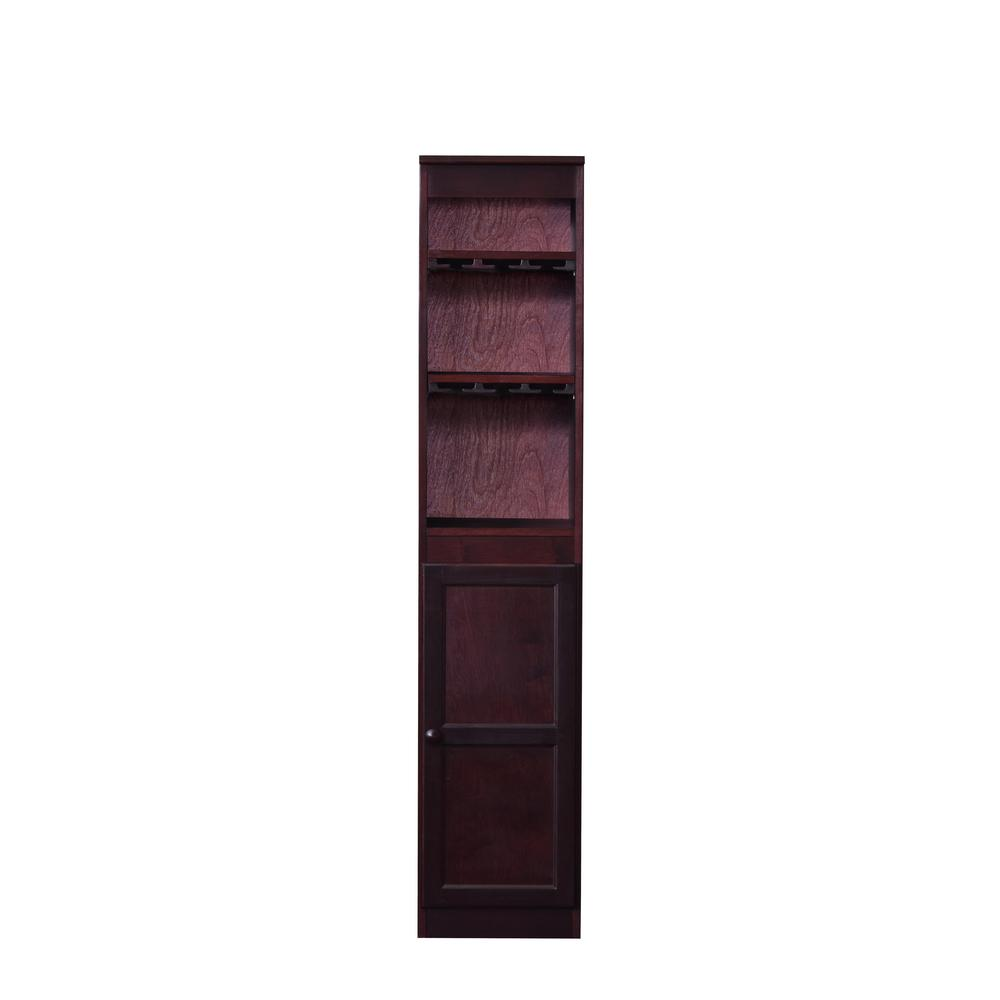 21-Bottle Cherry Bar Cabinet