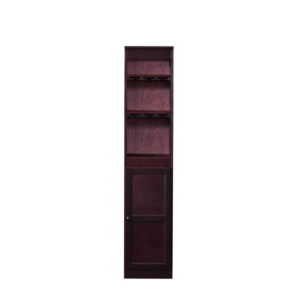 Concepts In Wood 21 Bottle Wood Wine Cabinet With Hanging