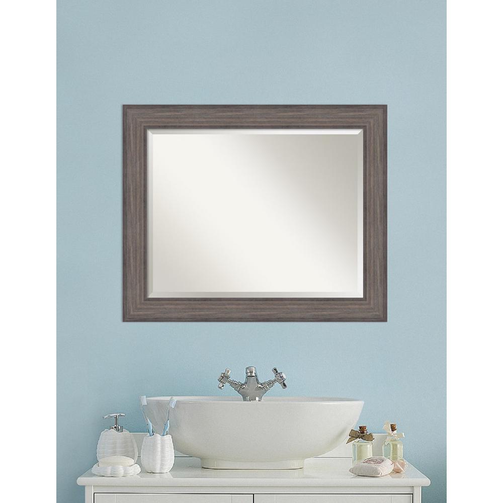 Amanti Art Country Barnwood Wood 34 In W X 28 H Distressed Bathroom