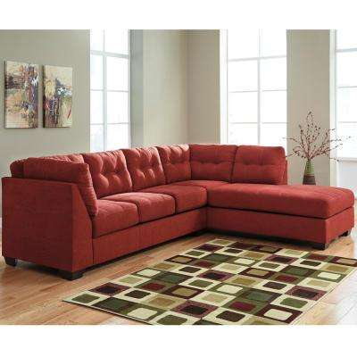 Benchcraft Maier Sienna Microfiber Sectional With Right Side Facing Chaise