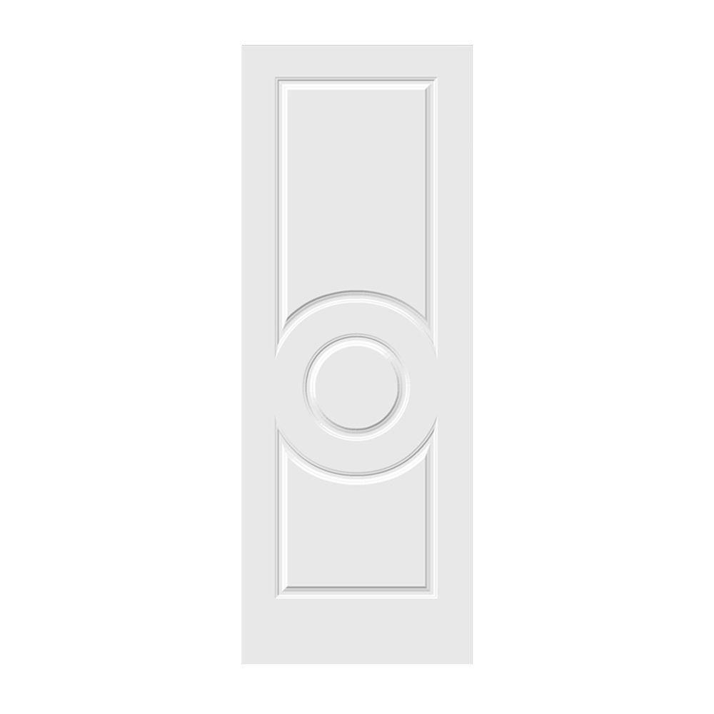 30 in. x 80 in. Primed C3140 3-Panel Solid Core Premium