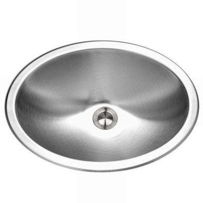 Opus Series Undermount 13.6 in. Single Bowl Lavatory Sink in Stainless Steel