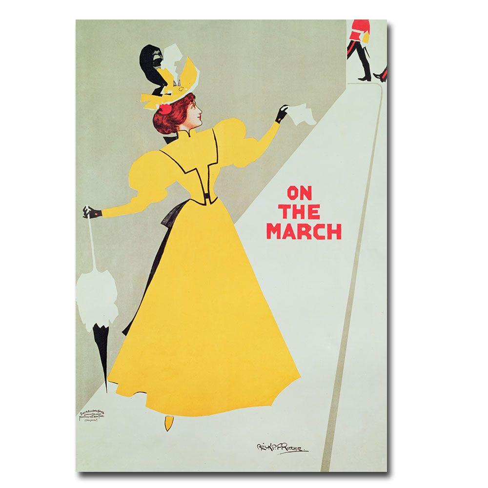 Trademark Fine Art 16 in. x 24 in. On the March Canvas Art