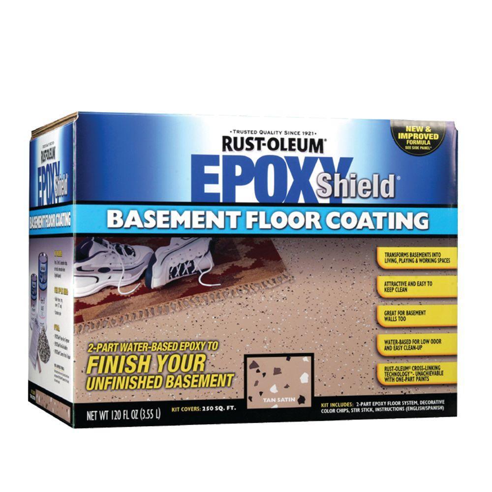 Home Depot Rust-Oleum Epoxy Shield 1-gal. Basement Tan