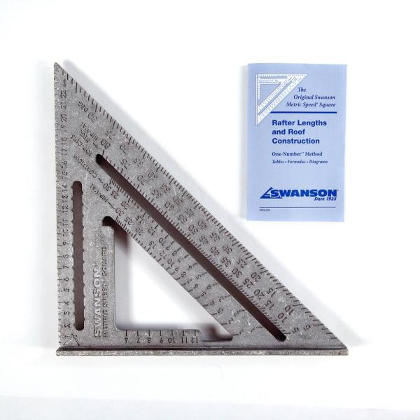 25 cm Metric Speed Square carded with English German and French