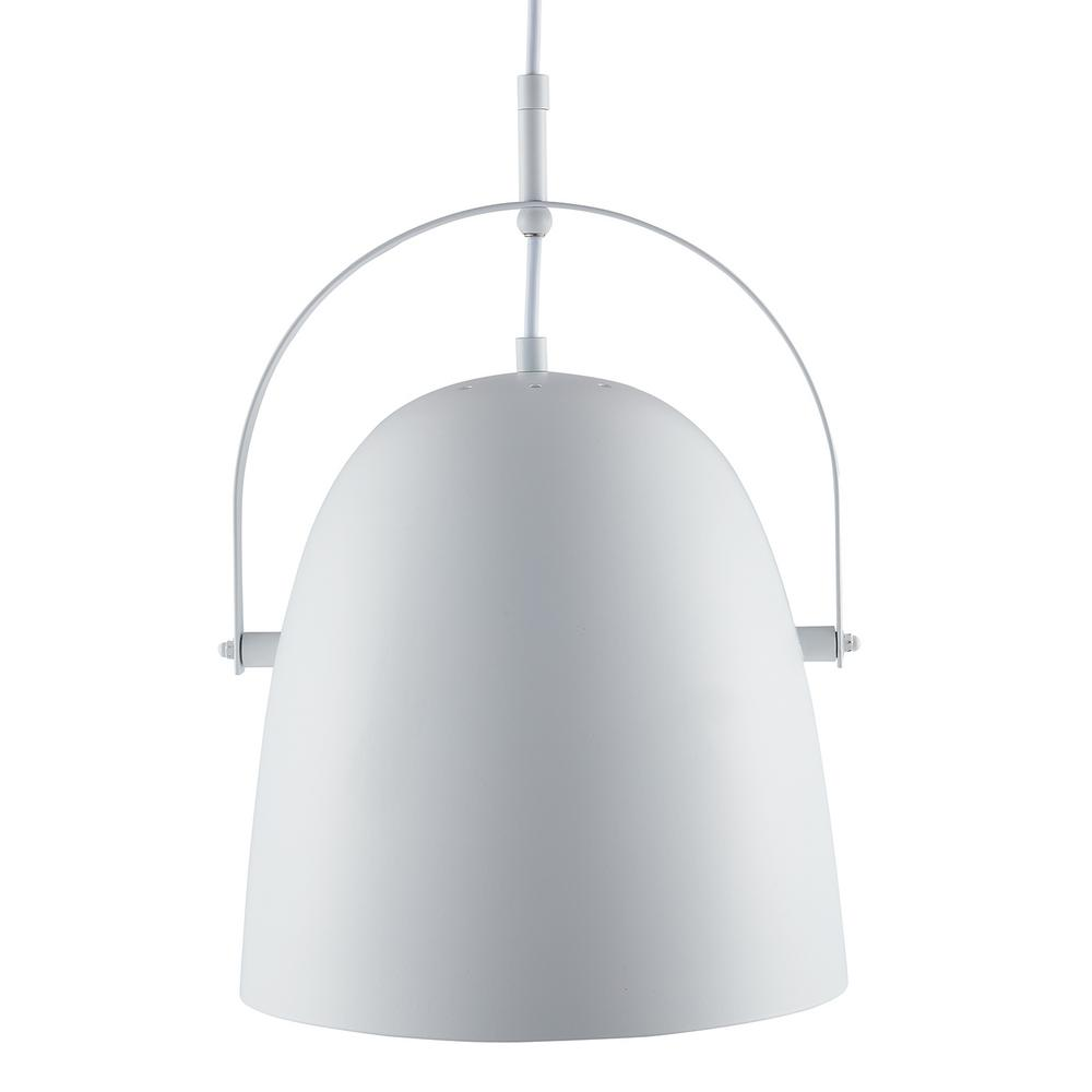 Southern Enterprises Bemma 1-Light White Pendant Lamp was $119.99 now $37.6 (69.0% off)