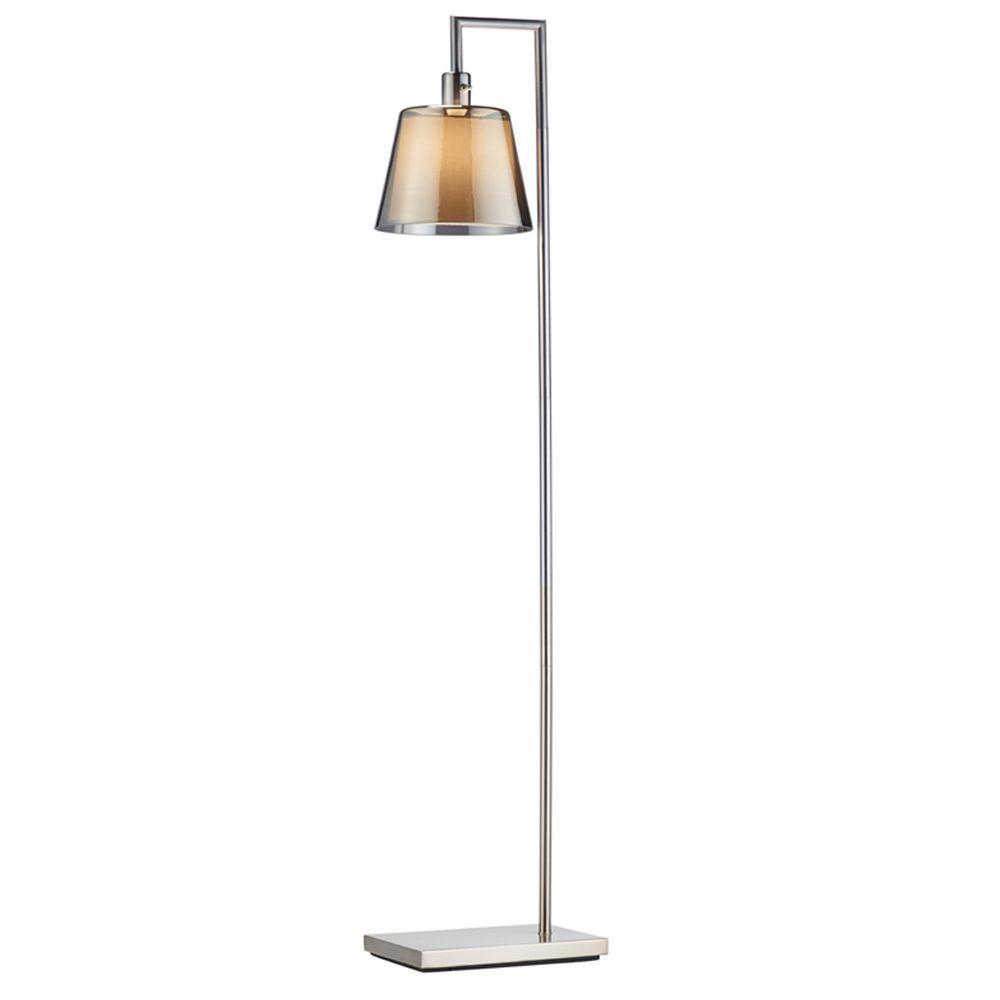 Prescott 58-1/2 in. Satin Steel Floor Lamp