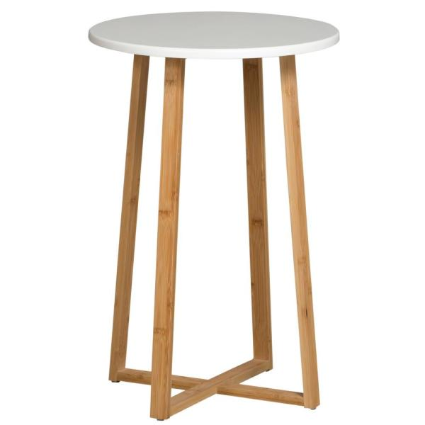 Eccostyle White Tall Display Table