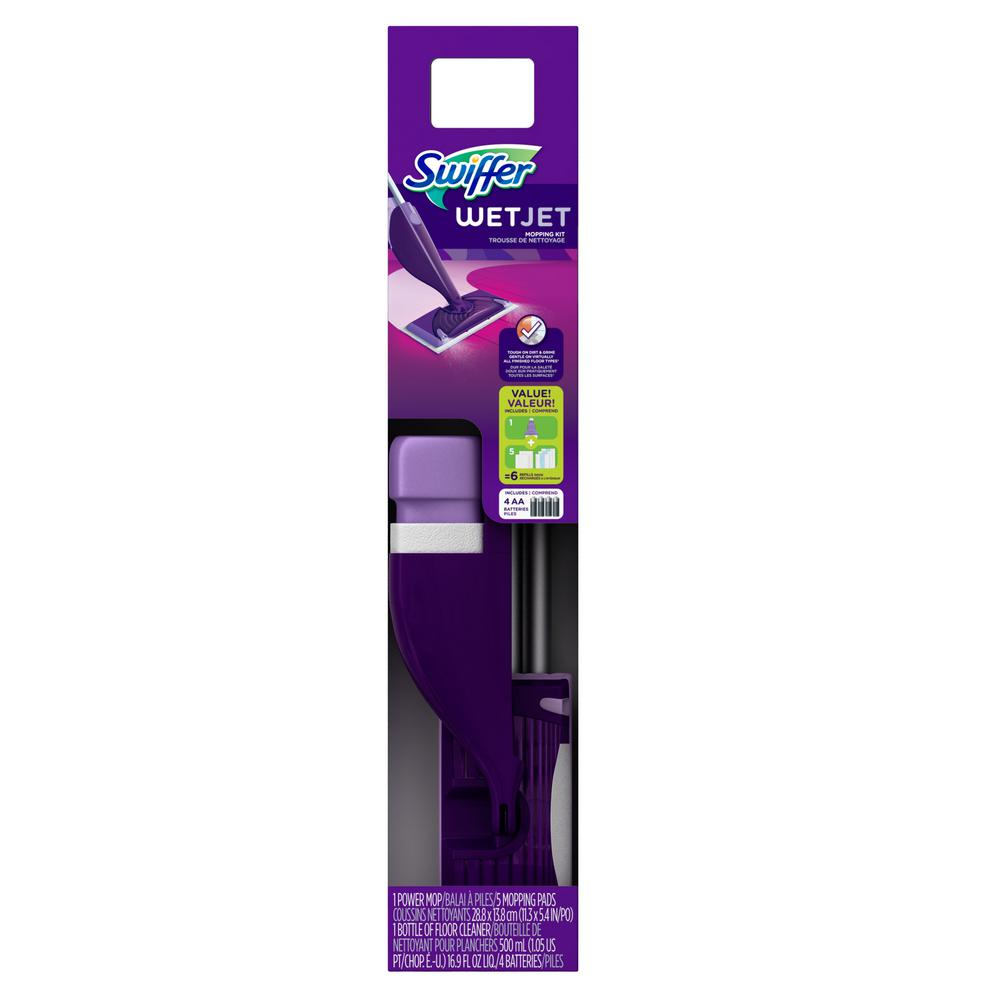 Swiffer Wetjet Power Mop Starter Kit 003700092810 The