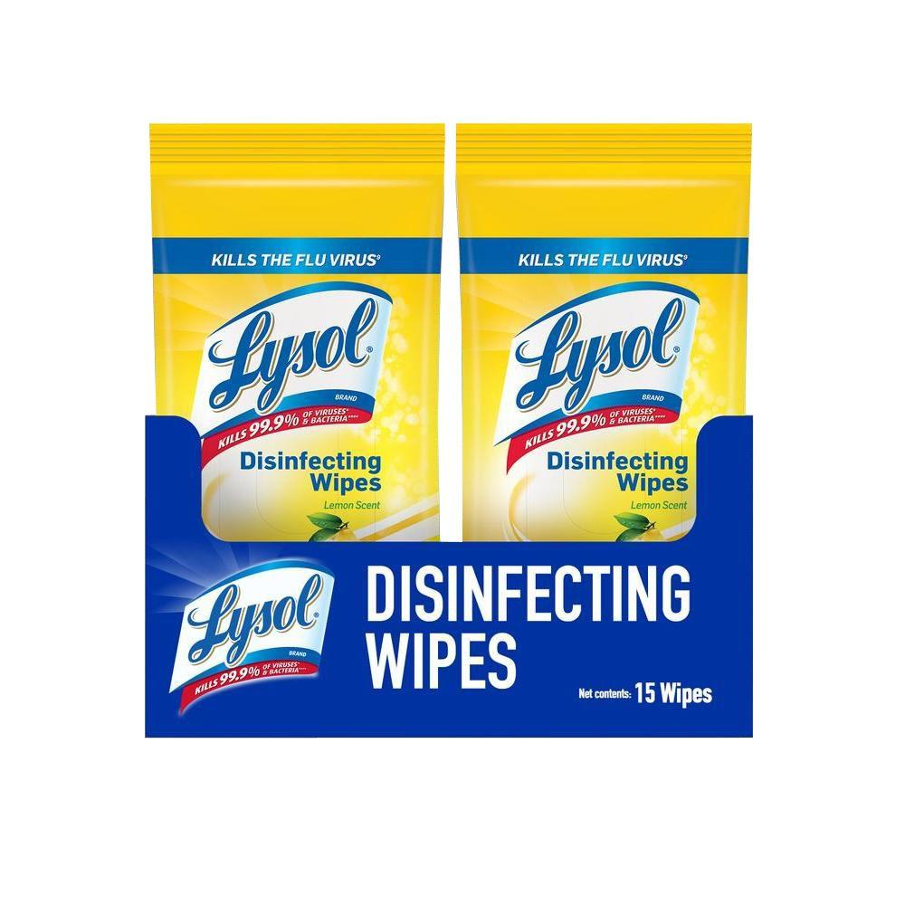lysol travel size lemon lime blossom disinfecting wipes 15 count
