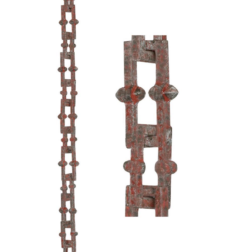Bamboo Rustic Aluminum 8.5 ft. Rain Chain