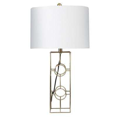 28.5 in. Fairmont Metal Gold Table Lamp with Shade