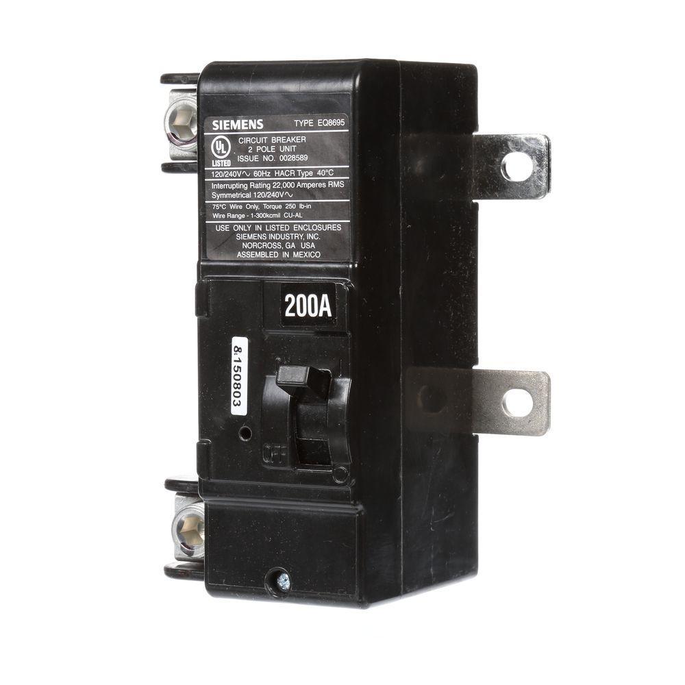 Siemens 200 Amp Main Breaker Conversion Kit Mbk200a The Home Depot Klein Tools Digital Circuit Finder Canada