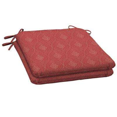 20 x 19.75 Outdoor Chair Cushion in Standard Chili Stitch (2-Pack)