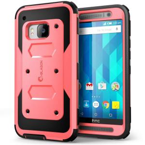 i-Blason Armorbox Full-Body Protective Case for HTC One M9- Pink by