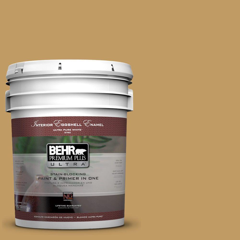 BEHR Premium Plus Ultra 5-gal. #340F-6 Mojave Gold Eggshell Enamel Interior Paint