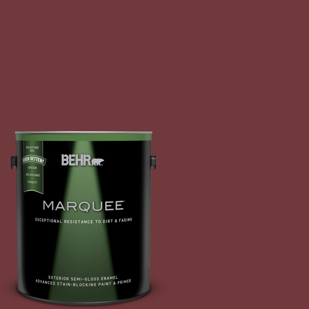 Behr Marquee 1 Gal 160f 7 Burnished Mahogany Semi Gloss