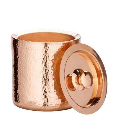 1.5 Qt. Stone Hammered Solid Copper Double Walled Ice Bucket