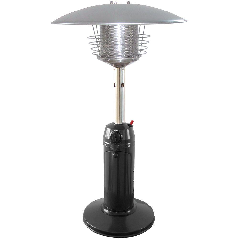 Propane patio heater with table Tabletop 11000 Btu Tabletop Portable Propane Gas Patio Heater The Home Depot Garden Sun 11000 Btu Tabletop Portable Propane Gas Patio Heater