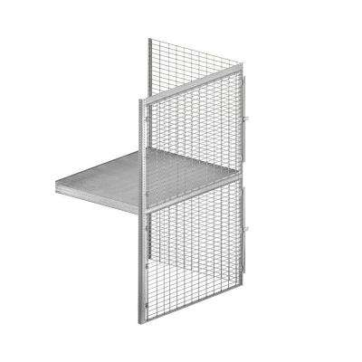 8200 Series 48 in. W x 90 in. H x 36 in. D 2-Tier Wire Bulk Storage Locker with Add-On in Aluminum