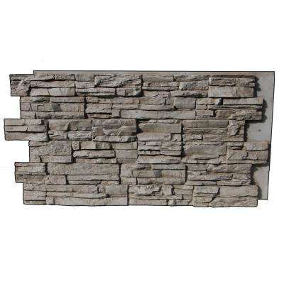 Faux Grand Heritage 24 in. x 48 in. x 1-1/4 in. Stack Stone Panel Creamy Beige