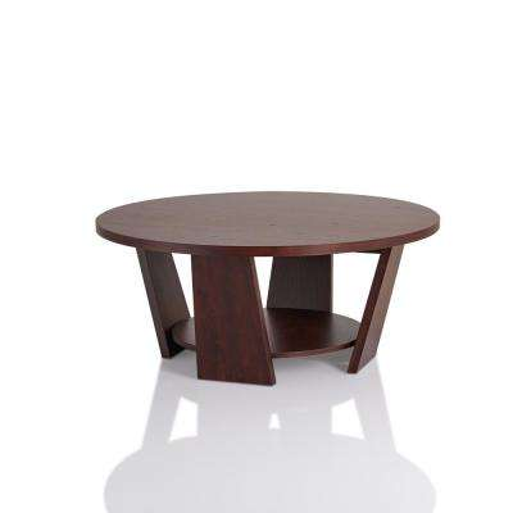 Algar Vintage Walnut Round Coffee Table