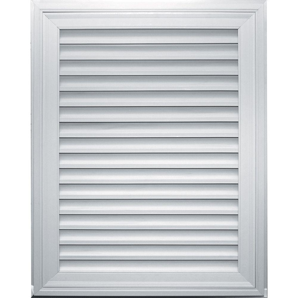 Builders Edge 32 in. x 42 in. Rectangle Gable Vent #001 White