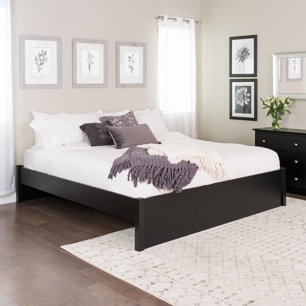 Prepac Select Black King 4 Post Platform Bed Bbsk 1302 2k The Home Depot