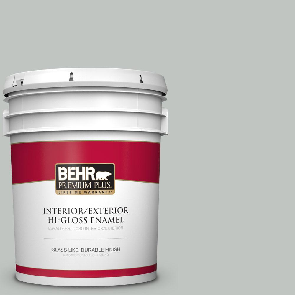 5 gal. #PPU25-14 Engagement Silver Hi-Gloss Enamel Interior/Exterior Paint