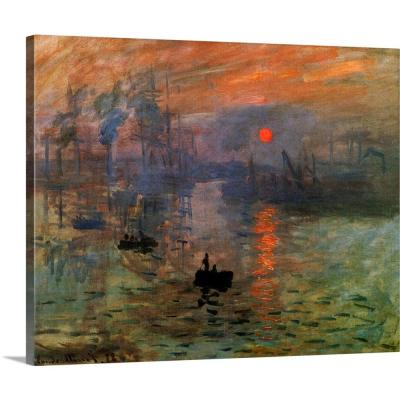"""Impression: Sunrise 1873"" by Claude Monet Canvas Wall Art"