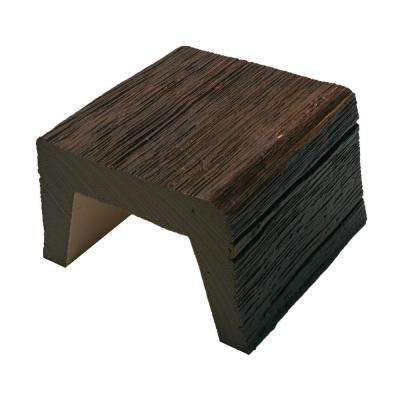 5-7/8 in. x 3-7/8 in. x 6 in. Long Faux Wood Beam Sample