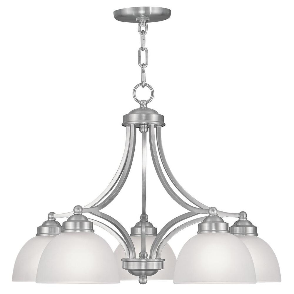 Livex Lighting 5-Light Brushed Nickel Chandelier With