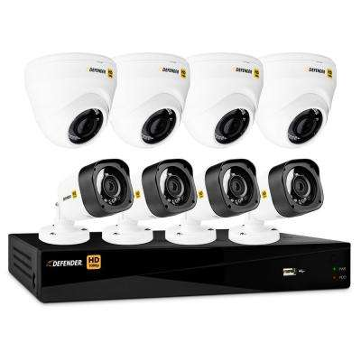 8-Channel HD 1080p 1TB DVR Security System and 4 Dome and 4 Bullet Cameras with Mobile Viewing