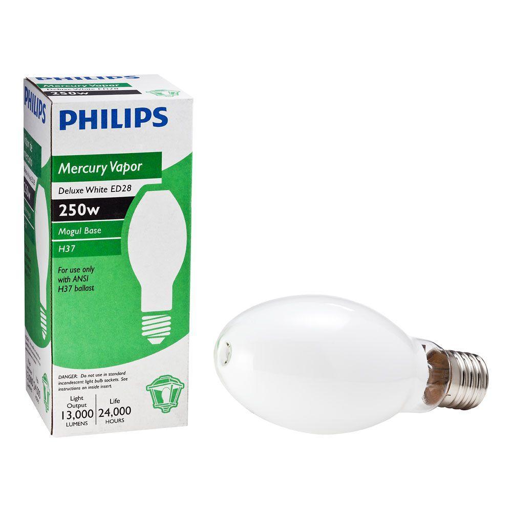 Philips 250-Watt ED28 Mercury Vapor Deluxe High Intensity Discharge HID Light Bulb