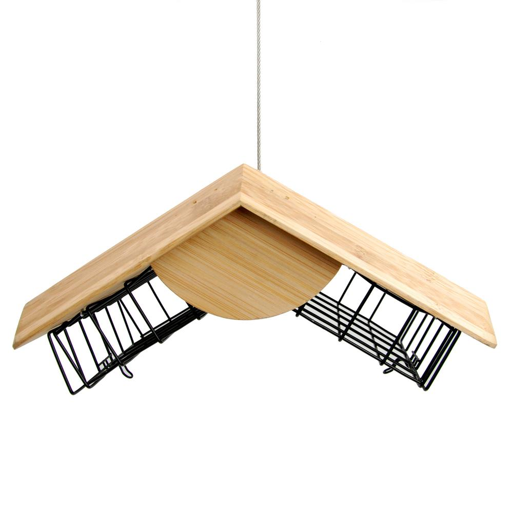 Perky-Pet Loft Bamboo Double Suet Wild Bird Feeder