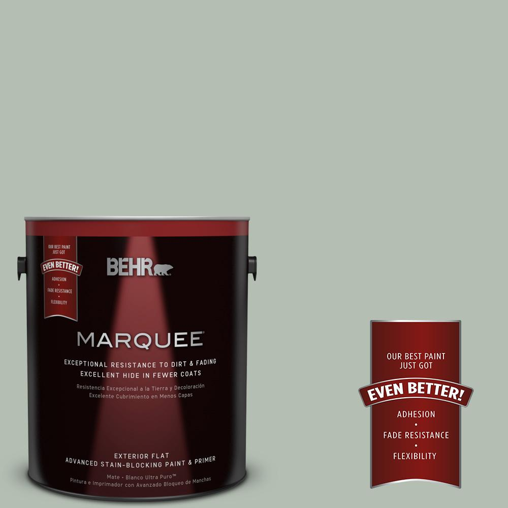 BEHR MARQUEE 1-gal. #N400-3 Flagstaff Green Flat Exterior Paint ...