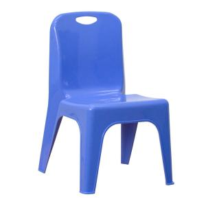 Blue Plastic Stackable School Chair with Carrying Handle and 11 in. Seat Height